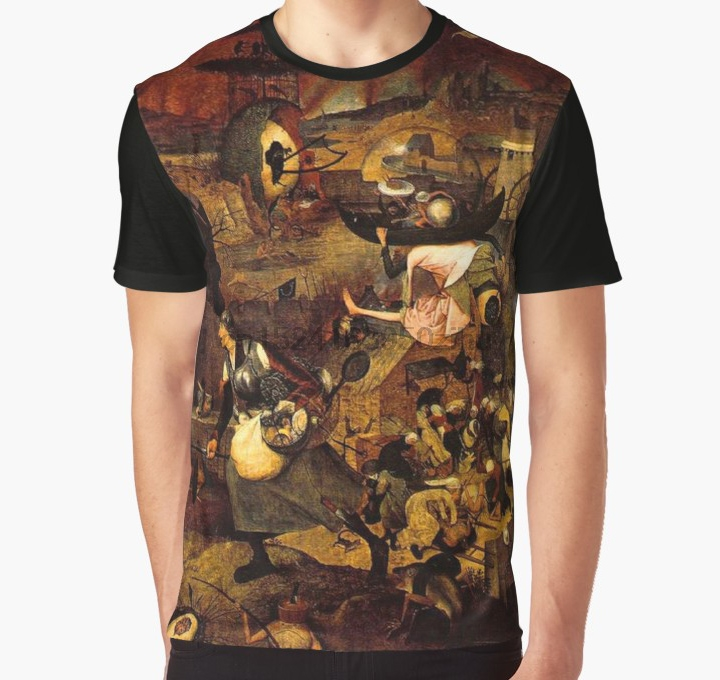All Over Print 3D Tshirt Men Funny T Shirt Mad Meg By Hieronymus Bosch Graphic T-Shirt