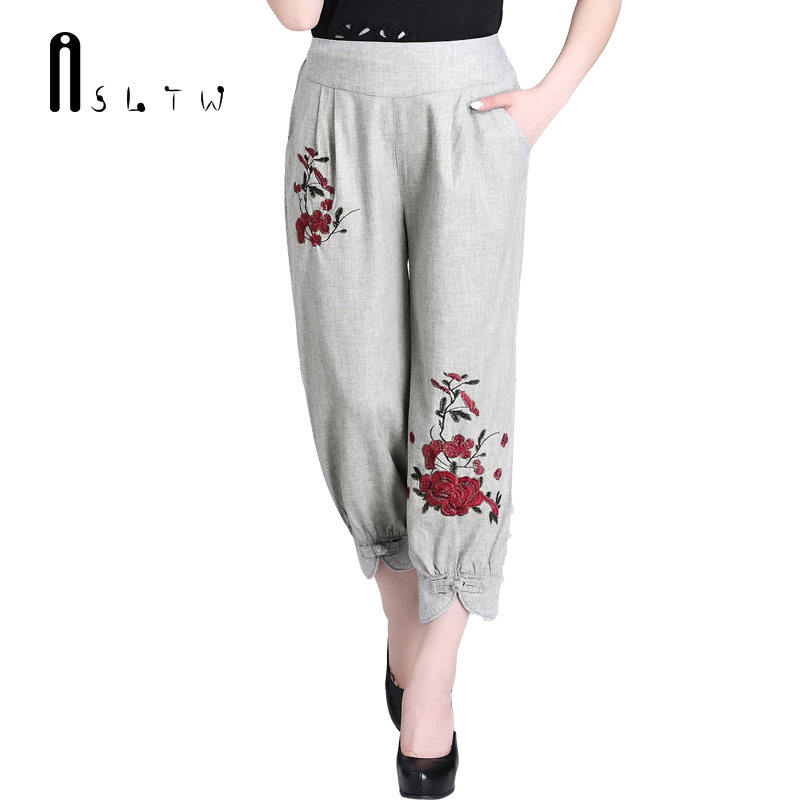 ASLTW Harem Linen Women's Pants 2017 New Summer Casual ...