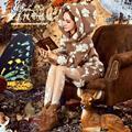 Bayan Kaban Abrigo de Invierno Magia Muñeca Grande de Corea Larga Sección De Tucson basada en Bruja Suelta Otoño Abrigo de Lana de Cachemira Chaqueta con capucha