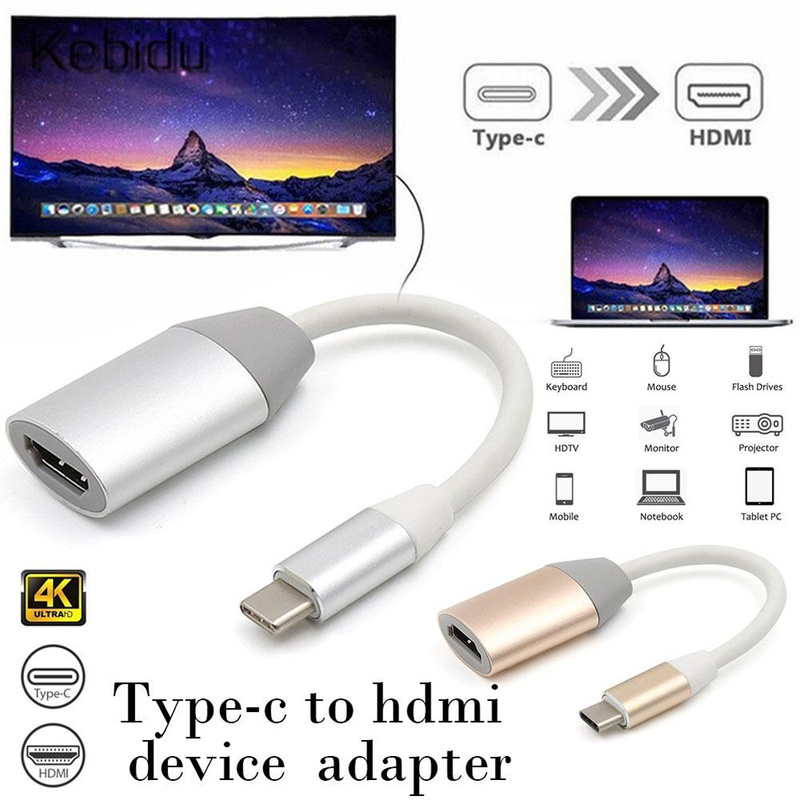 Professional 4K 30HZ Resolution USB-C To HDMI Converter Portable Type-c To HD Device Adapter For Macbook Samsung Huawei LG
