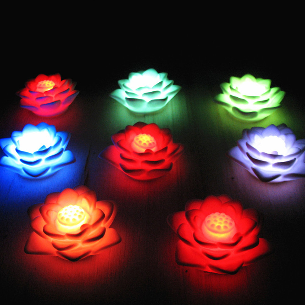 Romantic Lotus Flower Night Light Color Changing Lotus Flower LED Night Light Romantic Love Mood Lamp Home Decoration