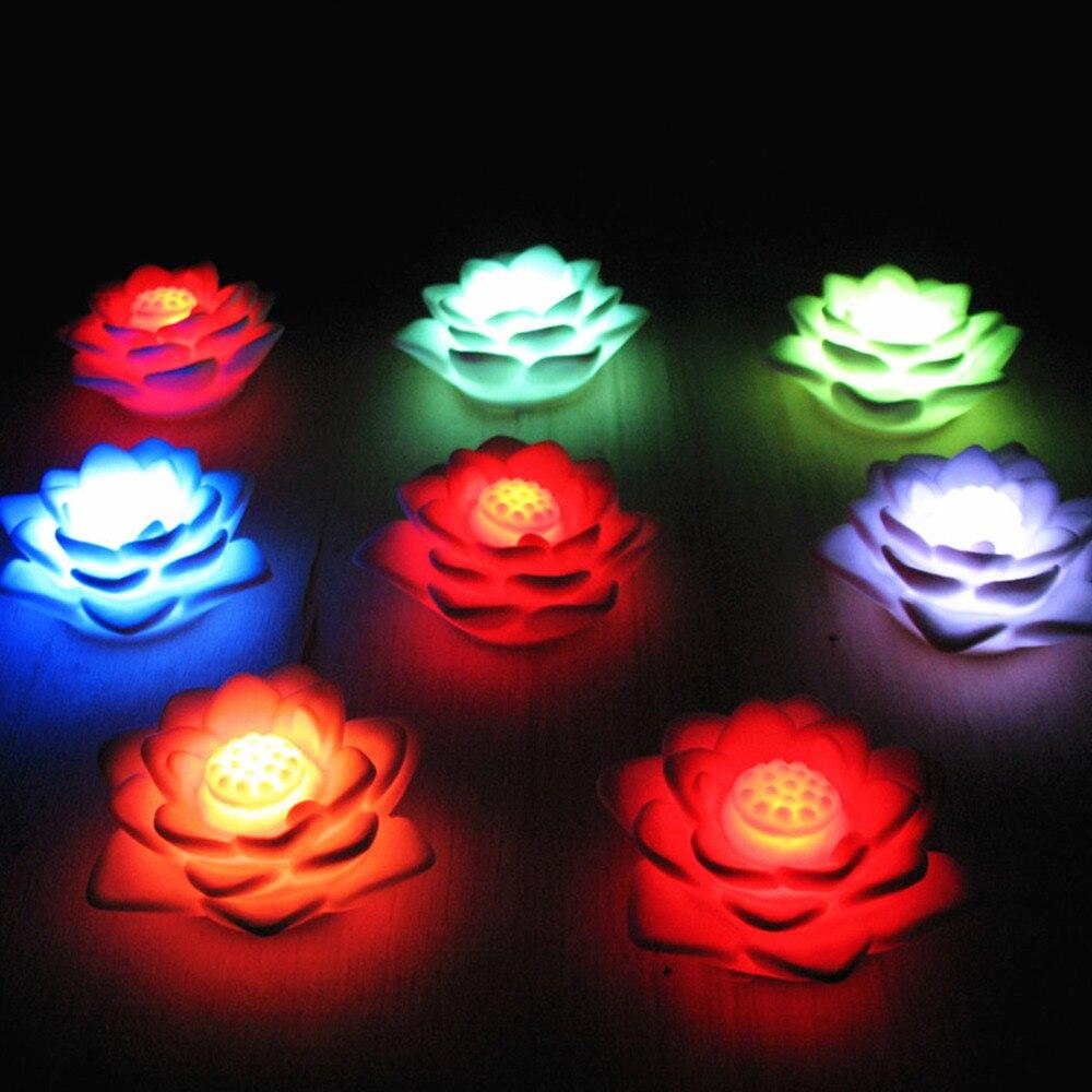 Romantic Lotus Flower Night Light Color Changing Lotus Flower LED Night Light Romantic Love Mood Lamp Home Decoration