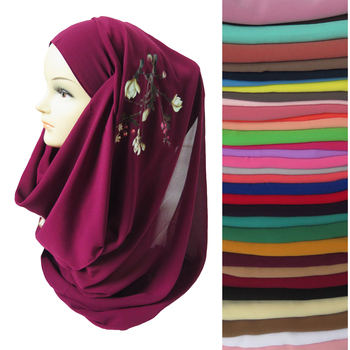 Floral Muslim Chiffon Womens Hijab Head Scarf Shawl Wrap