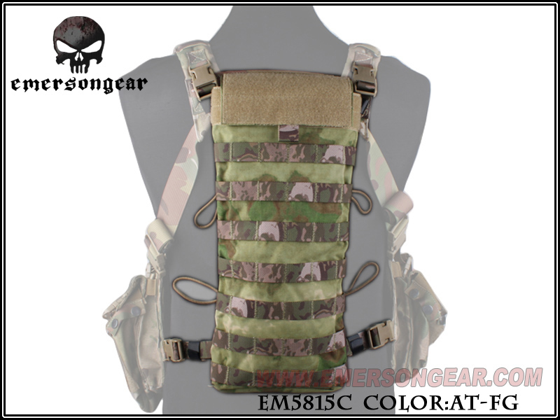 ФОТО EMERSON LBT2649E Style 2.5L Hydration Water Bag Back Panel Molle Water Pouch Combat Gear Hunting Accessories EM5815 AT-FG ^