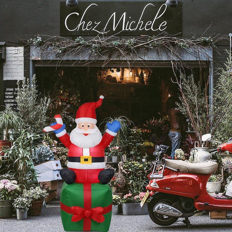 1.8 M Inflatable Santa Claus Christmas Outdoors Ornaments Xmas New Year Party Home Shop Yard Garden Decoration EU Plug