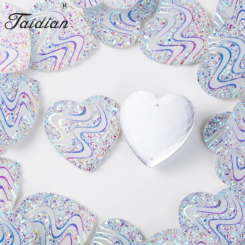 Crystal AB Heart flatback resin cabochons accessories diy sew on Rhinestone 35mm 50pieces/lot 1 piece 50pieces 2 5mm 100
