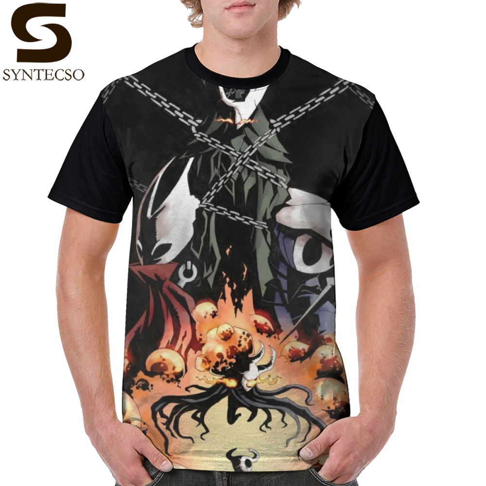 Hollow Knight T Shirt Hollow Knight T-Shirt Short-Sleeve Polyester Graphic Tee Shirt Male Printed Beach Funny Oversize Tshirt