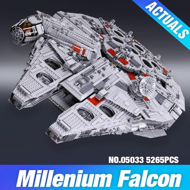 ЛЕПИН 05033 5265 Шт. Star Wars Конечная коллекционное Тысячелетний Сокол Модель Строительство Комплект Блоки Кирпичи Игрушки Совместимы 10179