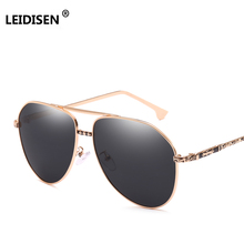 LEIDISEN Fashion Men's UV400 Polarized Sunglasses Men Driving Shield