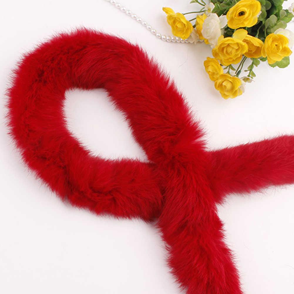 毛皮アクセサリーふわふわトリミングリボンテープ縫製 Diy のダウンジャケット人工ウサギの毛皮の衣装