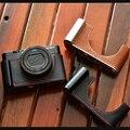 Чехол из натуральной воловьей кожи с полукорпусом для камеры Sony RX100III RX100IV RX100V RX100V RX100M5 RX100 VII M6 M4 m3