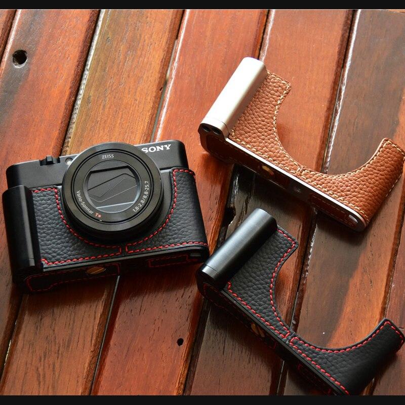 Housse de protection en cuir de vachette véritable pour Sony RX100III RX100IV RX100V RX100V RX100M5 RX100 M6 M4 m3