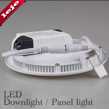 Ultra Thin LED Downlight Panel Light Round/Square 3W 6W 9W 12W 15W 18W 24W for livingroom,kitchen,bedroom,Foyer,Offcer