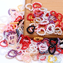 1000pcs Multicolor Hollow Heart Shape Imitation Half Round Pearls Flatback Beads For DIY Nail Art Scrapbook Decoration Craft