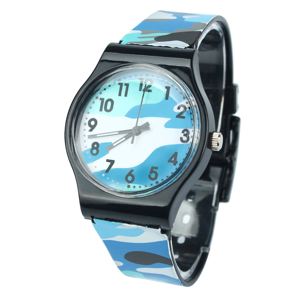 2019 Hot Sale Camouflage Children Watch Fashion Rubber Strap Quartz Wristwatch For Girls Boy Kids Sports Wataches Relogio #n