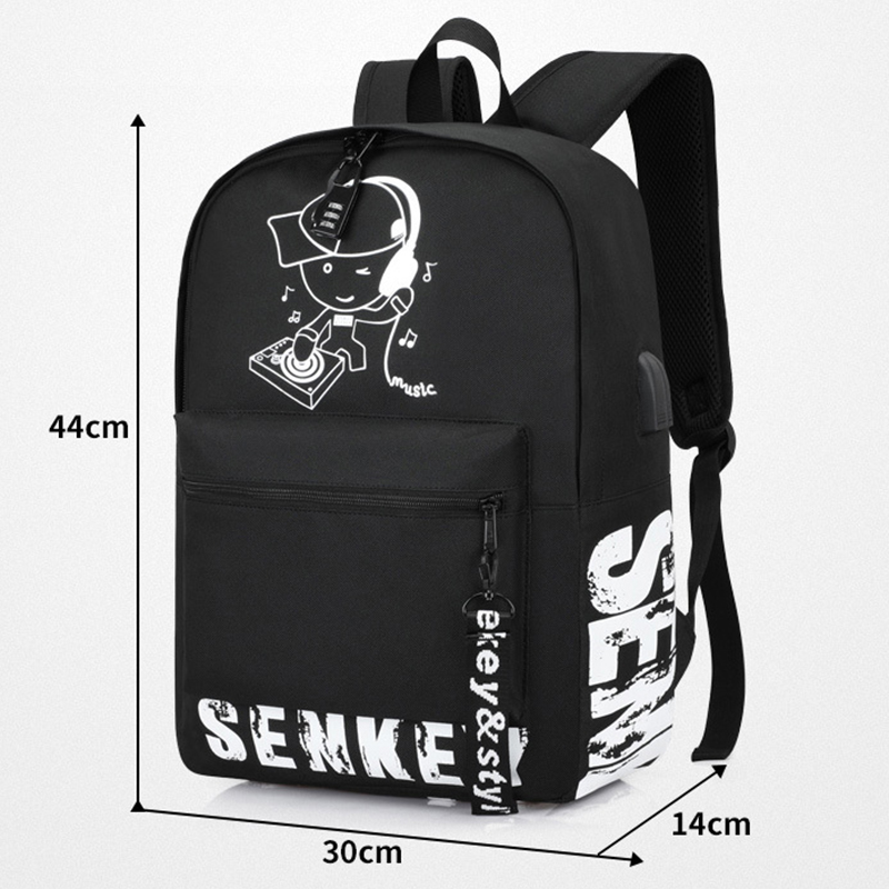 Senkey style 2019 new Luminous cute schoolbag For teenage teenagers kids backpack to school bag Student book bag for boys girls