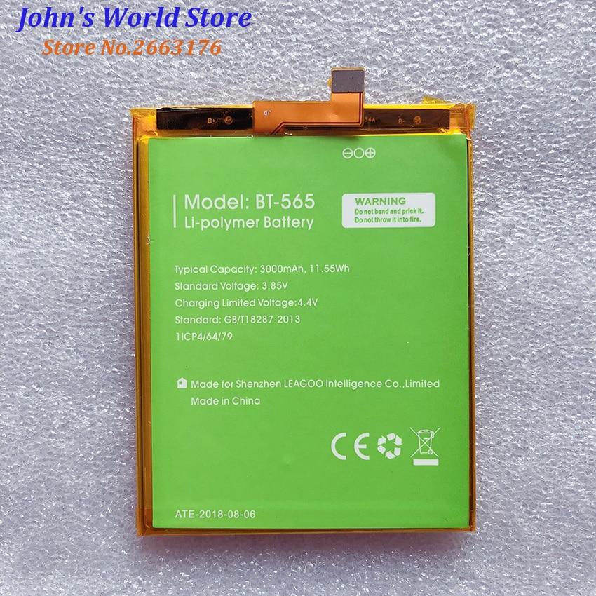 100% novo BT-565 & BT-566 3000 mah bateria para leagoo kiicaa mix t5 t5c bt565 peças do telefone móvel bateria batterie baterij
