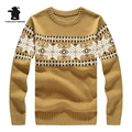 2016 New Men's Christmas Sweaters Winter Fashion Jacquard Thick Wool Cowl Neck Sweater For Men Pull Homme 5 Colors S~2XL CB12E08
