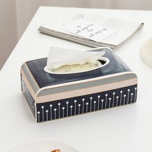 10 tissue box ceramic modern simplicity paper Removable boxes Living-room decoration Table decorations