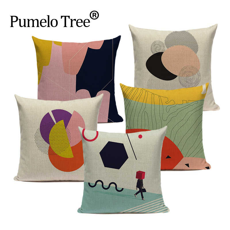 Cartoon Colorful Geometry Pillow Throw 45cmx45cm Square Sofa Bed 3d Lumbar Cushion Pillow Cover Dropshipping Cushion Cover Pillow Throws Cushion Pillow Coverlumbar Cushion Pillow Aliexpress