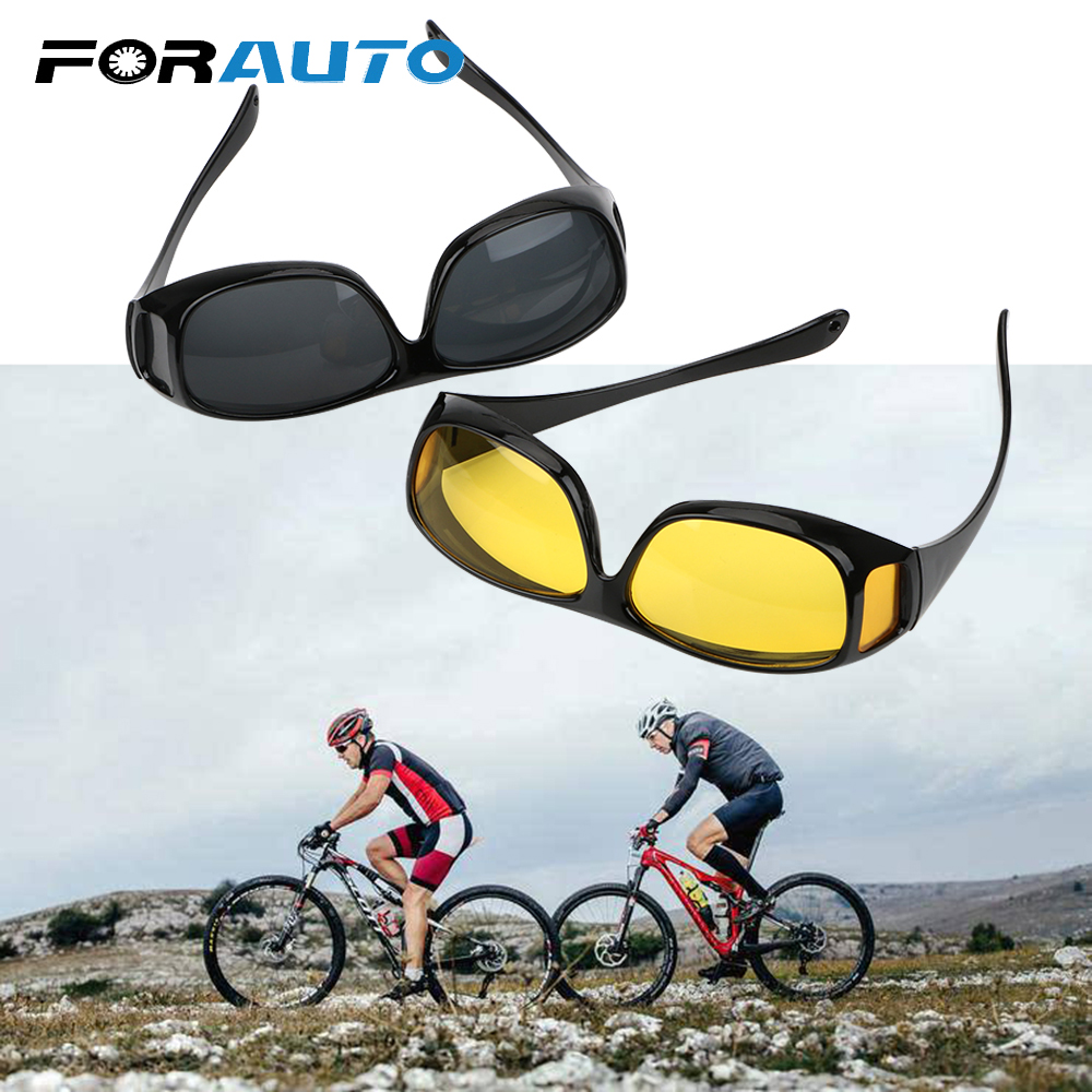 FORAUTO Night Vision Driver Goggles Car Driving Glasses UV Protection Polarized Sunglasses Eyewear Unisex HD Vision Sun Glasses