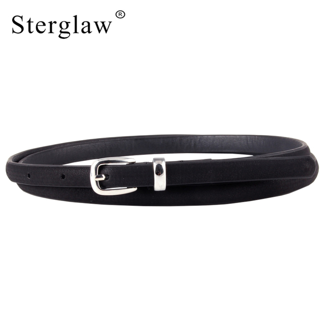 6bcd2287f2d44 Sterglaw Designer belts women high quality black thin Leather belt for women  jeans Belt female belts waist ceinture N105