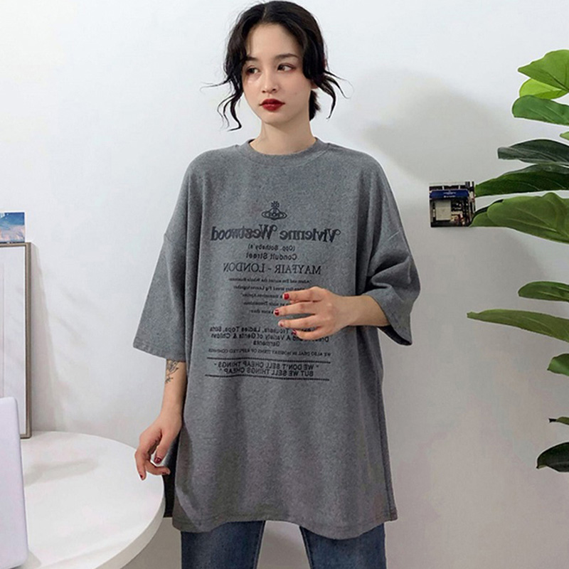 Harajuku Letters Ulzzang Half Sleeve Funny T-Shirts 2019 Summer Women's Fashion Large Size Casual T Shirt Women Basic White Tops