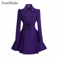 ForeMode Europe Aliexpress Explosion EBay Winter Coat Jacket Belt Buckle Coat