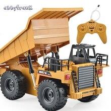 Abbyfrank RC Car font b Toy b font Car Remote Control Truck Tipper Alloy Multi function