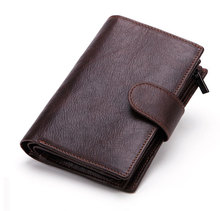 Men Genuine Leather Passport Wallet Brown Short Leather Purse Male Cowhide Leather Coin Bag Wallet Men's Passport Cover passport cover o 23 sh brown