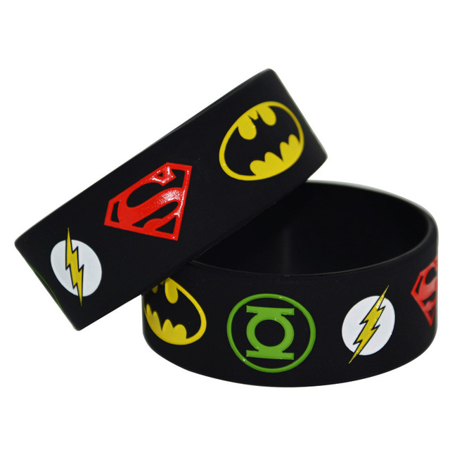 1piece New Justice League Superman Batman Green Lantern The Flash Wristband