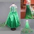 Ceia Design Personalizado Meninas Anna Elsa Princesa Crianças Crianças Pano Vestido de Festa Vestidos Crianças Vestidos Para Meninas Do Bebê Natal