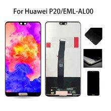"""Lcd original 5.8 """"para huawei p20 display toque digitador da tela de substituição para huawei p20 display lcd EML AL00 l22 l09 l29 oem"""