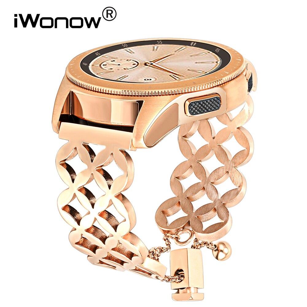 iWonow Jewelry Watchband for Samsung Galaxy Watch 42mm SM-R810/R815 Women Band Wrist Strap Stainless Steel Bracelet Wristband