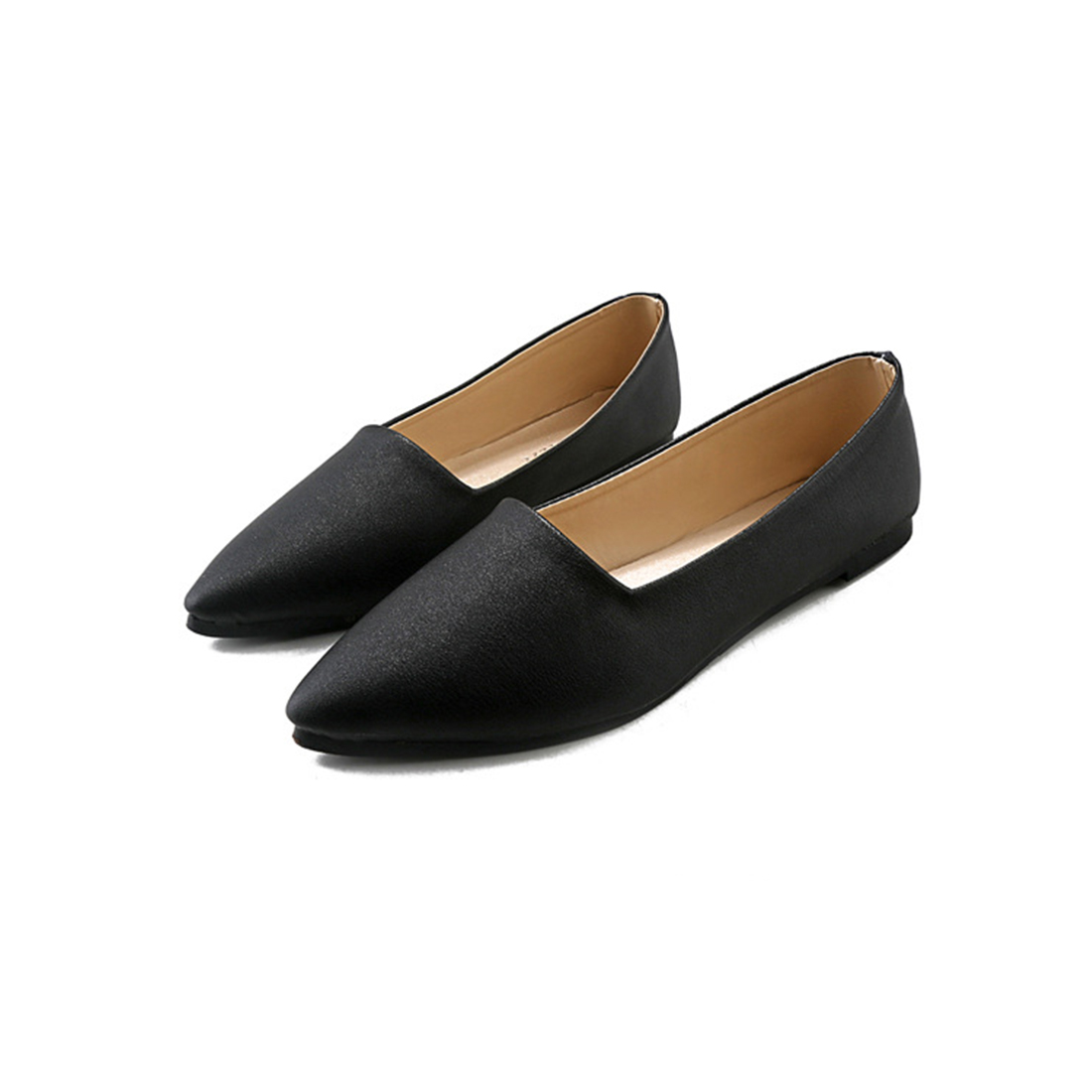 Women Flats 2017 Newest Pointy Patent Leather Loafers All Seasons Candy Colors Ballerina Slip On Shoes