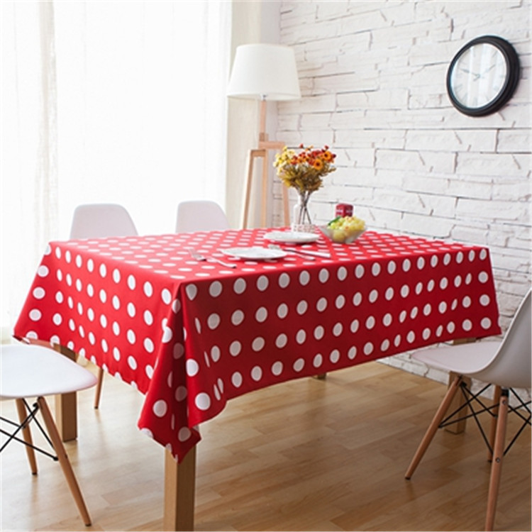 Beautiful Cheap Price Japanese Style Polka Dot Table Cloth Red Green Tablecloth For  Dining Room