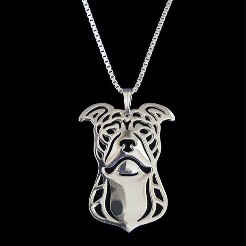 2018 новые женские ювелирные изделия сплава Ожерелья для мужчин для любителей питбультерьер (природные уши) Подвески Прямая доставка