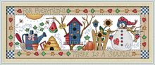 Four seasons counted printed on fabric DMC 14CT 11CT Cross Stitch kits,embroidery needlework Sets Home Decor