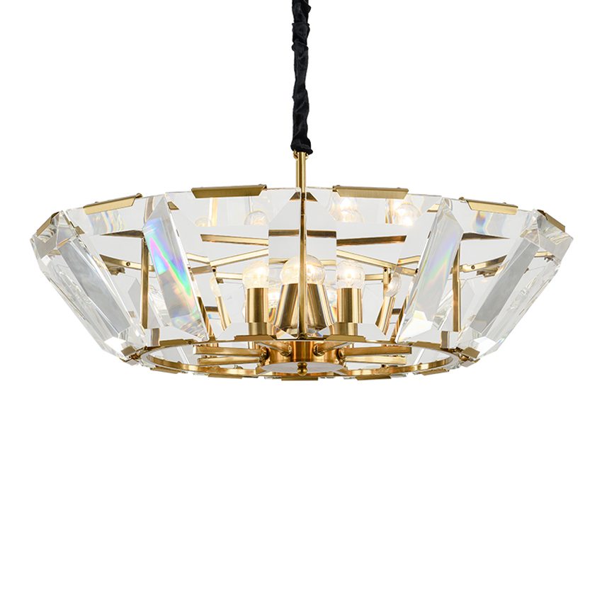 Morden Crystal Chandelier Lighting Fixture Lustre Cristal Gold Black Living Room Dining Room LED light Luxury Round LuminaireMorden Crystal Chandelier Lighting Fixture Lustre Cristal Gold Black Living Room Dining Room LED light Luxury Round Luminaire