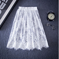 The new skirt lace openwork backing all-match slim slim gauze skirt unlined wholesale