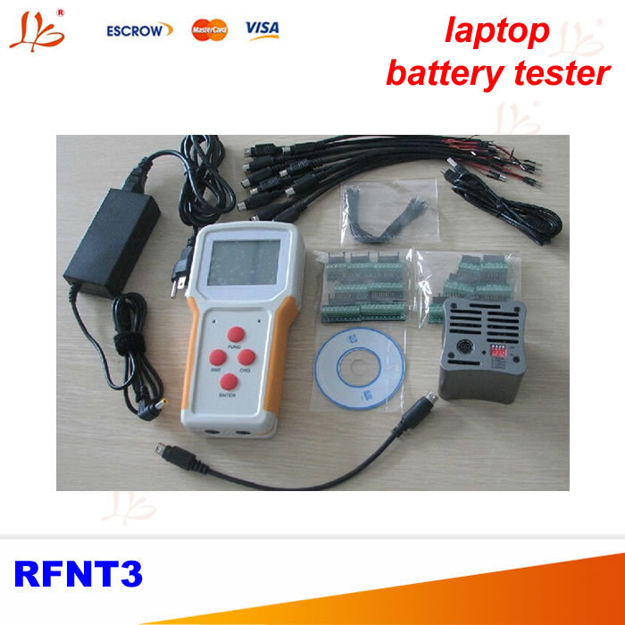 Portable laptop battery tester RFNT3 with function charge, discharge, test, Capacity Correction, 50% Capacity ebc a40l high current battery capacity tester battery line graph battery tester battery testing 20acharge 40a discharge