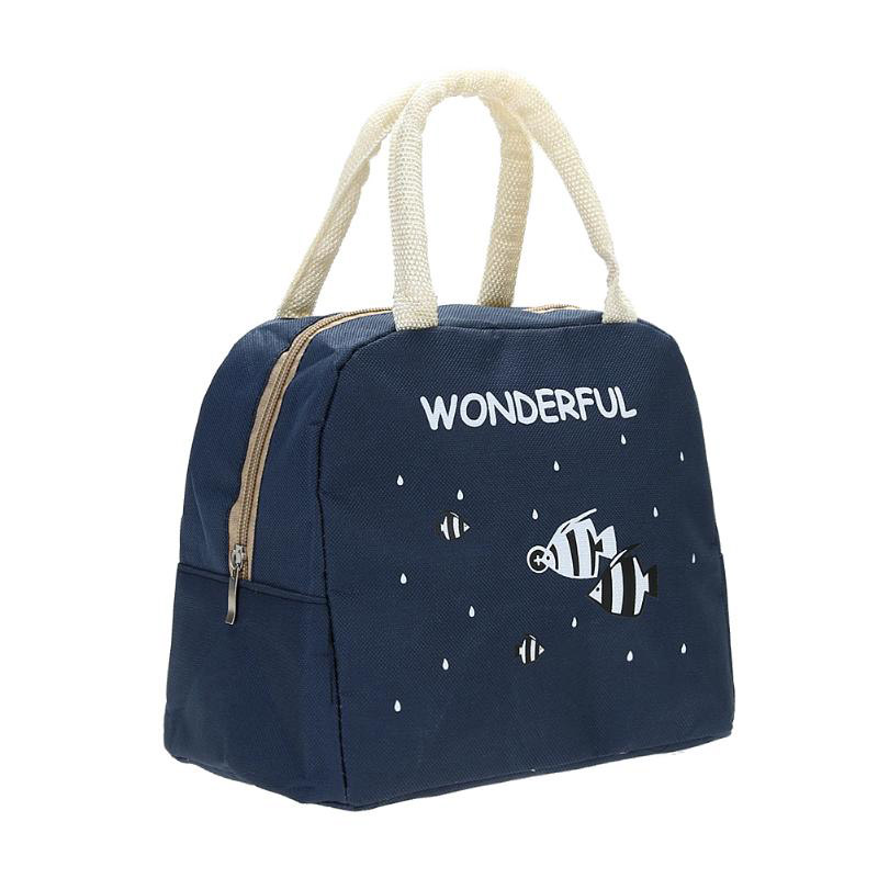 Fashion Portable Insulated Canvas lunch Bag Thermal Food Picnic Lunch Bags for Women kids Men Cooler Lunch Box Bag Tote