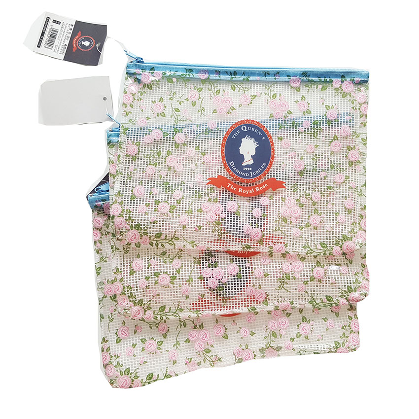 Crown Soldier's Chromatic  Broken Flower Pattern PVC Grid File Bag