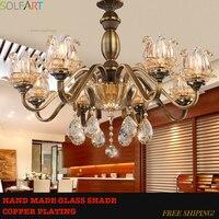 Хрустальная люстра для гостиной лампы стеклянный блеск винтасветодио дный светодиодная современная люстра освещение