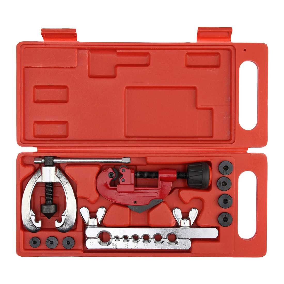 (Drop shipping) Copper Brake Fuel Pipe Repair Double Flaring Dies Tool Set Clamp Kit Tube Cutter