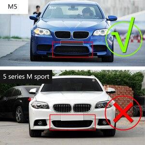 Image 3 - Carbon Fiber Rear Bumper Diffuser Lip Spoiler For BMW 5 Series F10 M5 Sedan 2012 2017 Car Tuning Parts