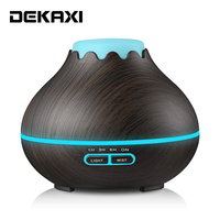 DEKAXI 400ml Electric Aroma Diffuser Mist Maker Air Humidifier Essential Oil Diffuser Aroma LED Lamp Aromatherapy for Home