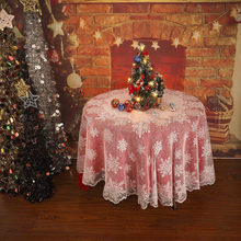 50# Christmas Table Cloth Cover White Vintage Lace Tablecloth Home Party Xmas Decor christmas decoration navidad Droshipping(China)