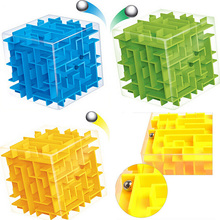 8 8cm 3D Magic Cube Maze Labyrinth Rolling Ball Educational Toys Puzzle Plastic Stress Relief Toy