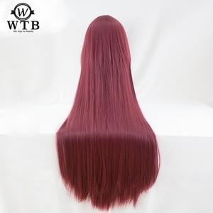 Image 4 - WTB peluca sintética de Scathach para Cosplay, disfraz de Fate/Grand Order, pelucas de juego, Disfraces de Halloween, cabello, material de alambre de alta temperatura